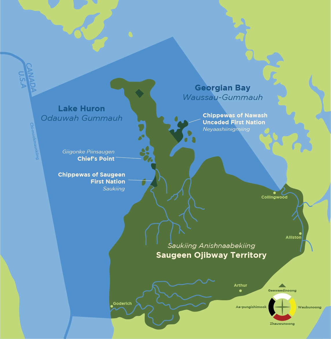 Map of Saugeen Ojibway Nation Territory